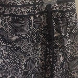 A. Byer Skirts - A.BEYER BLACK & WHITE COTTON SKIRT